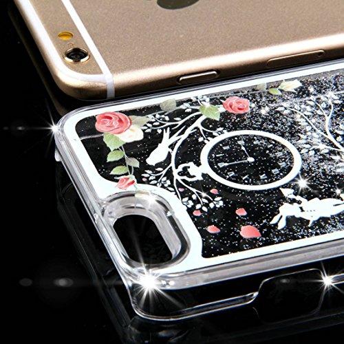 iPhone 6 Plus 5.5 Pouce Coque Transparente Glitter Anitichoc Liquide Case,iPhone 6S Plus Coque Fille,iPhone 6S Plus Case,EMAXELERS iPhone 6 / 6S Plus Coque Cristal dur Plastique Transparent Clair Liqu Girl Series 1