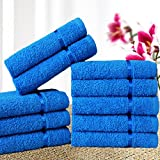 #8: Story@Home 10 Piece 450 GSM Cotton Face Towel Set - Blue