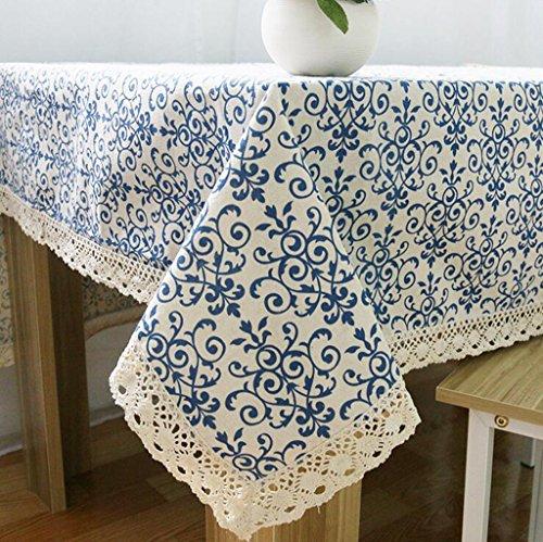 Lozse Porcelana Azul Blanca Chino clásico Lino manteles