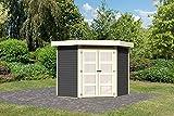 Karibu Gartenhaus GOLDENDORF 3 terragrau Gerätehaus 213x217cm 19mm