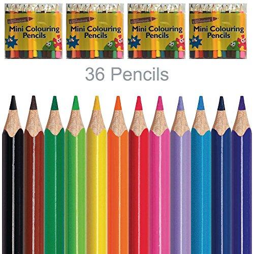 4Packungen 12Mini Buntstifte Zeichnen Skizzieren Malen für Künstler Craft Art Sketch...