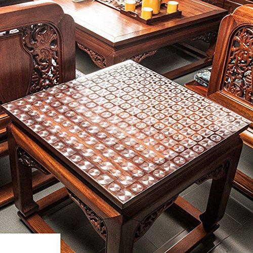 XKQWAN PVC Transparente tischdecke Wasserdicht Quadratische Quadratische tischdecke Kunststoff tischdecken Nachttisch Kristallplattenmatte Untersetzer-C 24 * 24in (Kunststoff-platten Durchsichtigen Quadratisch)