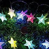 Étoiles Lumières Lot de 2 *10 Étoiles Guirlande lumineuse Eclairage Décoration pour Noël, Fête, Vacances, Mariages, Fenêtres, Rideaux