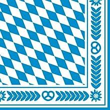 Susy Card 11095262 - Servilleta (33 x 33 cm), diseño de rombos del escudo de Baviera