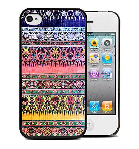 Coque silicone BUMPER souple IPHONE 5c - Aztec tribal Azteque motif 4 DESIGN case+ Film de protection OFFERT