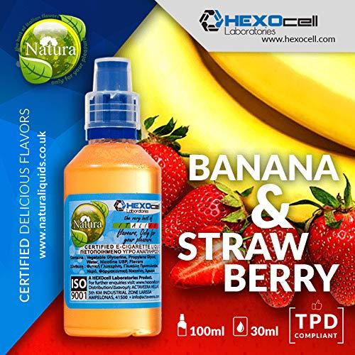 E LIQUID PARA VAPEAR - 30ml Banana & Strawberry Plátano