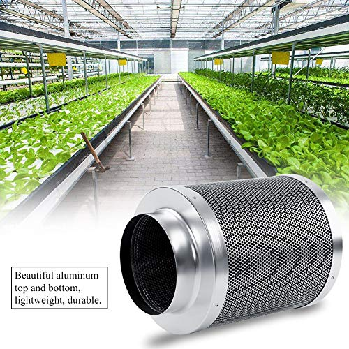 EBTOOLS Aktivkohlefilter, Edelstahl Kohlefilter Abluft-Filter Geruchsfilter für Haus Werkstatt Büro, Größe optional (6 Zoll, 300 mm)