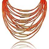 Damen Quaste Halskette Lederkette Weihnachtsgeschenk Halskette Saoirse