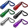 6 Satz Mini LED Keychain Taschenlampe, MAXIN batteriebetriebene Fackel Light, Super Mini Key Chain Taschenlampen, für Camping, Wandern, Jagd, Rucksackreisen, Angeln und andere Outdoor-Aktivitäten. (6 Farben)