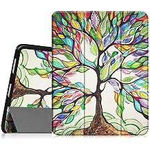 Fintie iPad 1 Funda - Ultra Slim Fit Smart Case Funda Carcasa con Stand Función para Apple iPad 1 / iPad 1 ª Generación / 1st Generation iPad, Love Tree