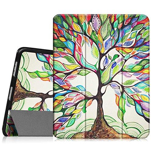 Fintie Apple iPad 1 Hülle Case - ultra-schlank superleicht Ständer SlimShell Cover Schutzhülle Etui Tasche für iPad 1st Generation, Liebesbaum (Gb 64 1. Ipad Generation)