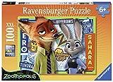 Ravensburger Italy 105991 - Puzzle Zootropolis, 100 Pezzi, Multicolore