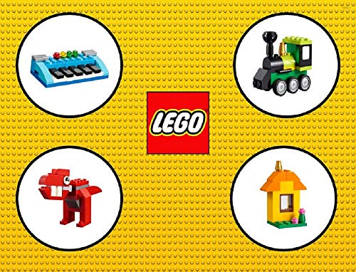 Lego Classic Building Instructions: Musical Keyboard, Steam Train, Red Dino and House (English Edition)