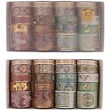 Gitua Washi-tape-set, 20 rollen folie, goud, decoratieve tape voor scrapbooking, journal, doe-het-zelf handwerk, geschenken d