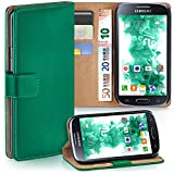 Samsung Galaxy S4 Mini | Hülle Dunkel-Grün mit Karten-Fach [OneFlow 360° Book Klapp-Hülle] Handytasche Kunst-Leder Handyhülle für Samsung Galaxy S4 Mini Case Flip Cover Schutzhülle Tasche