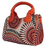 Damen Designer Handtasche Henkeltasche Bowlingbag Schultertasche im Boho Indio Style