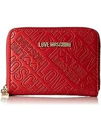 Love Moschino - Portafogli Embossed Pu Rosso, Carteras de mano Mujer, Rot (Red), 10x13x2 cm (W x H D)