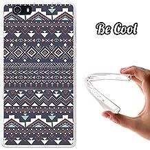 Becool® Fun - Funda Gel Flexible para Elephone M2, Carcasa TPU fabricada con la mejor Silicona, protege y se adapta a la perfección a tu Smartphone y con nuestro exclusivo diseño. Tribal azteca azul
