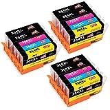 JIMIGO 364XL Cartouches d'encre Remplacement Pour HP 364 Haute Capacité Compatible Avec HP Photosmart 5520 6520 5524 5510 7510 7520, HP Deskjet 3070A 3520, HP Officejet 4620 (6 Noir, 3 Cyan, 3 Magenta, 3 Jaune)