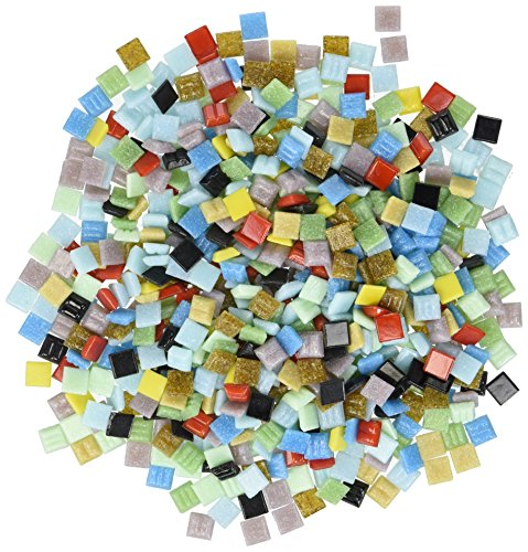 Mosaic Mercantile Vitreous Glass Tiles 1lb-Assorted