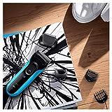 Braun Series 3 Shave und Style Elektrischer Rasierer und Trimmer 3010BT, blau/schwarz - 4