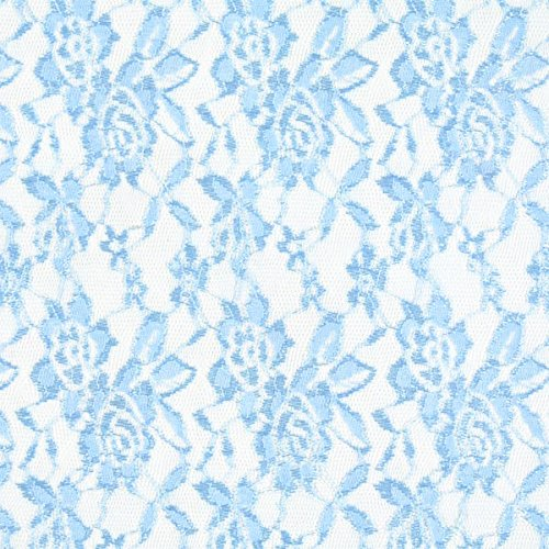 Karneval-spitzen-bh (Fabulous Fabrics Spitze Leicht - hellblau - Meterware ab 0,5m - zum Nähen von Kleider, Karneval und Schals/Tücher)
