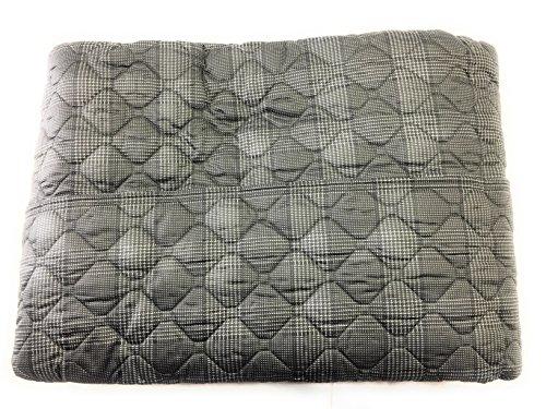 Couvre-lit matelassé de poids léger 90 gr/m², Art. Prince de Galles, dessus 100% satin de coton imprimé gris anthracite