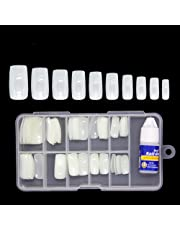 Colour Blast Artificial Nails Set Acrylic Face Nails Set Of 100 Pcs Artificial Nails Reusable