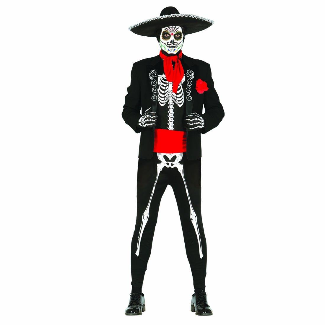 3d552d9c3 Disfraz esqueleto Día de los muertos Traje mexicano Sugar Skull L 52 54  Mariachi Halloween