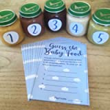 Guess The Baby Food! Game - Blue / Boy - 10 Player - Baby Shower Party