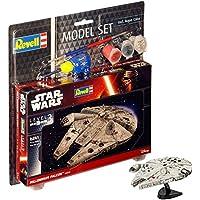 Revell - Maqueta de Star Wars Millennium Falcon, Escala 1: 241, Kit Modelo réplica exacta con Muchos Detalles, Model Juego con Base Accesorios, fácil Pegar y para pintarlas (63600)