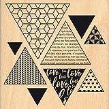 Florilèges Design fga116069Stempel Holz Dreiecke Deko Holz Farbe Holz 10x 2,5cm