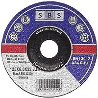 SBS Schruppscheiben Metall INOX ø125 x 6 mm für Winkelschleifer - 5 Stück