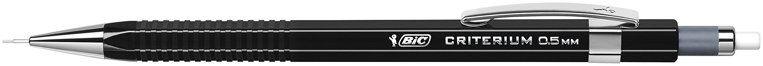 BIC Criterium Portaminas 0,5mm HB – Negro, Blíster de 1 + 1 Estuche de 12 Minas