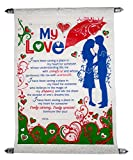 hug day gifts for boyfriend - Greeting Card, Love Quotes, Soft Teddy