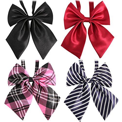 kilofly Herren 4pc Pre-tied gekr uselten Bowtie Large Band Krawatten Value Pack Einheitsgr e Set4 ein Pretied Bowties