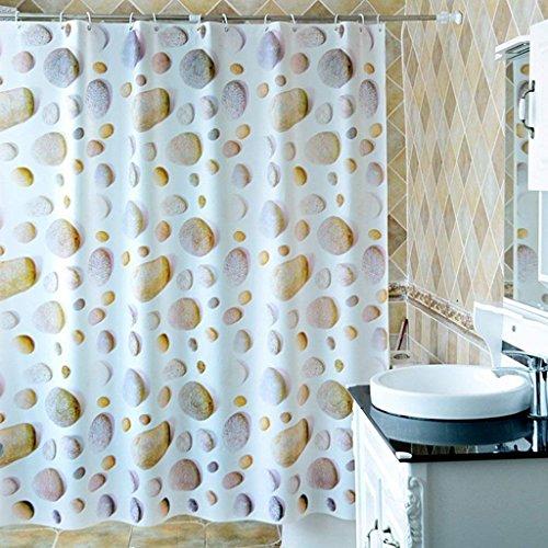 WYFCC Erru Duschvorhang Boden von Pierre Dick und wasserdicht Zum Test der ildewproof Partition, Warmen Badezimmer wasserdicht WC Vorhänge (Größe: 200 cm * 180 cm).