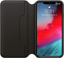 MMLC Für iPhone XS Max 6.5 inch Hülle Tasche Leder Case I Abnehmbare Cover I Ledertasche Kartenfach Standfunktion Echtleder Hülle Lederhülle Ledercase Handyhülle (Black)