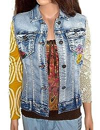Amazon.it  Desigual - Gilet   Giacche e cappotti  Abbigliamento f3433877ec2