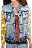 Desigual Damen Woman Girl Jeans Jacke ärmellos *** ELISENDA REP *** 55E29K5 blau (38)