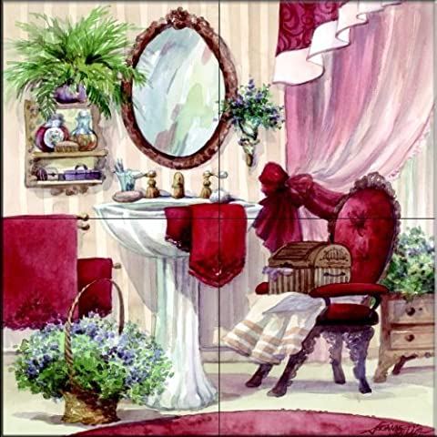 The Tile Mural Store - Victorian Bath I by Jerianne