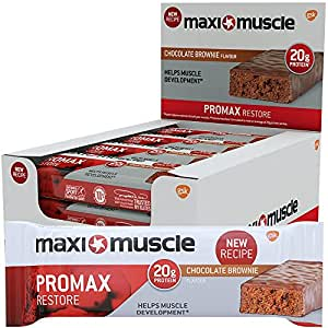 Maximuscle Promax High Protein Bar, Chocolate Brownie, 60 g, Pack of 12