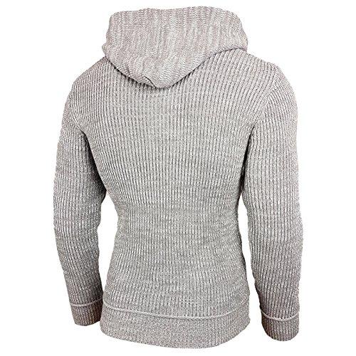 Rusty Neal Winter Strick-Pullover Kapuzenpullover Strickjacke Jacke Grau 13277 Grau