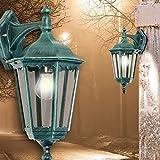 MIA Light Laterne Wand Leuchte Aussen Ø235mm/Klassisch/Antik/Grün/Alu/Lampe Aussenlampe Aussenleuchte Wandlampe Wandleuchte
