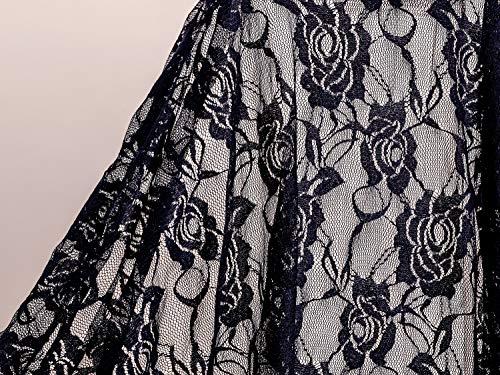 Encaje elástico tela 50 x 140 cm (Azul marino)