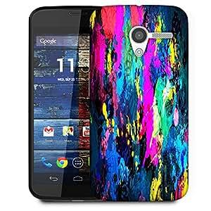 Snoogg Splash Paint Job Designer Protective Phone Back Case Cover For Moto X / Motorola X
