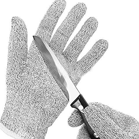 Enipate Home & Kitchen Cut Proof Resistant Gloves Hand Level 5 Protection Food Grade Whittling Knife Mandolin Woodcarving