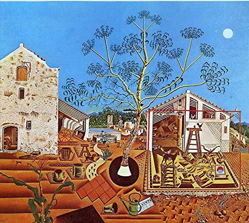 Toperfect 50€-2000€ Handgefertigte Ölgemälde - Die Farm-Dadaismus Gemälde auf Leinwand - Malerei Maße01