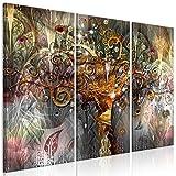 decomonkey | Bilder Gustav Klimt Baum 120x80 cm | 3 Teilig | Leinwandbilder | Bilder | Vlies Leinwand | Bilder | Wand | Bild auf Leinwand | Wandbild | Kunstdruck | Wanddeko | Abstrakt Mosaik gold bunt rosa grau grün | DKA0238a3XL