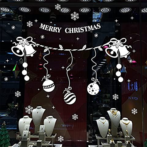 Ornamenti di Natale compresse arredate hotel commerciale di negozi neve globo ornamenti ornamenti natale decorazioni di Natale parete adesivi adesivo vetro ornamento